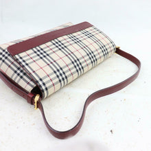 Load image into Gallery viewer, BURBERRY LONDON Leather-Trimmed Nova Check Shoulder Bag
