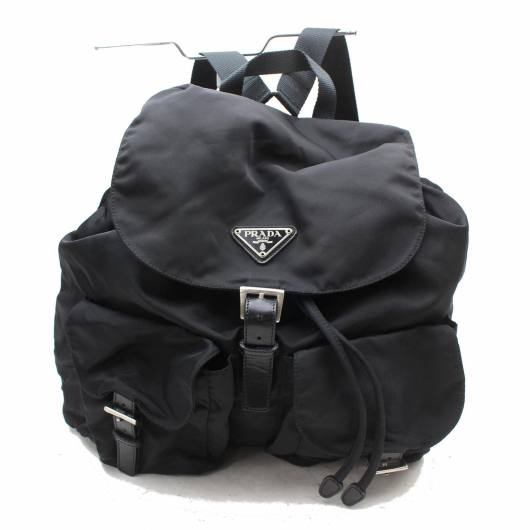 Prada Black Vela Nylon Backpack
