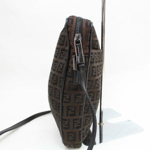 Fendi Brown Zucca Canvas Crossbody Bag