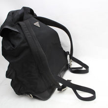Load image into Gallery viewer, Prada Twin Pocket Leather-trimmed Tessuto Black Nylon Backpack