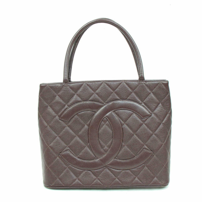 CHANEL Quilted Medallion Caviar Tote