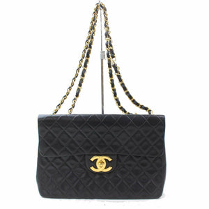 Chanel Maxi 34cm Lambskin Chain Shoulder Bag