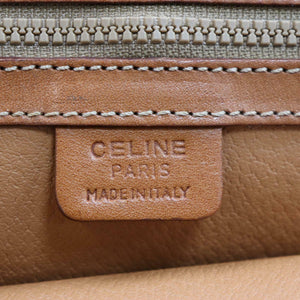 Céline Leather-Trimmed Macadam Satchel