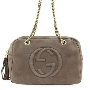 Gucci Nubuck Soho Chain Shoulder Bag