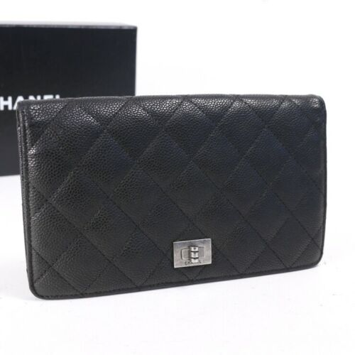 CHANEL Caviar Quilted Reissue Bifold Wallet