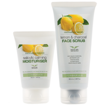 Load image into Gallery viewer, Blackhead & Blemish | Lemon & Charcoal FACE SCRUB