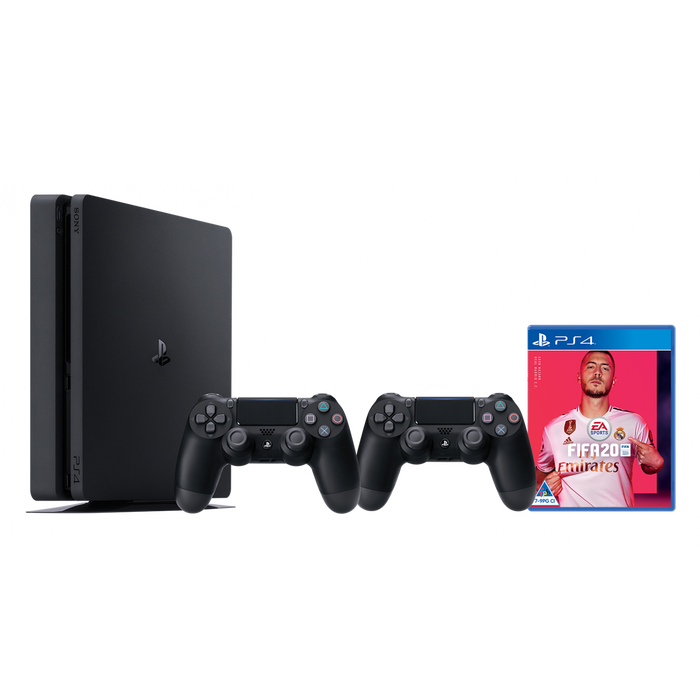 PlayStation 4 1TB DS4 Black + Fifa 20