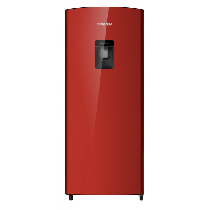 Hisense 176L, Red single door fridge