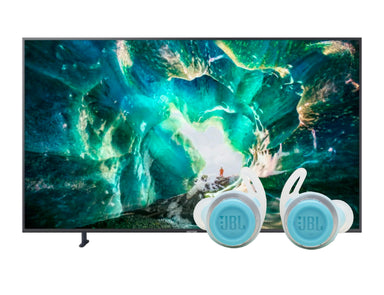 "Samsung 82"" 4K UHD Flat Smart TV RU8000JBL Reflect Flow Earphones"