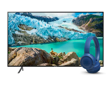 "Samsung 75"" UHD 4K Smart TV 75RU7100 JBL Tune 500BT Headphones"
