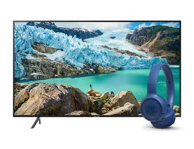 "Samsung 43"" UHD 4K Flat Smart TV 43RU7100 Tune 500BT Headphones (Blue)"