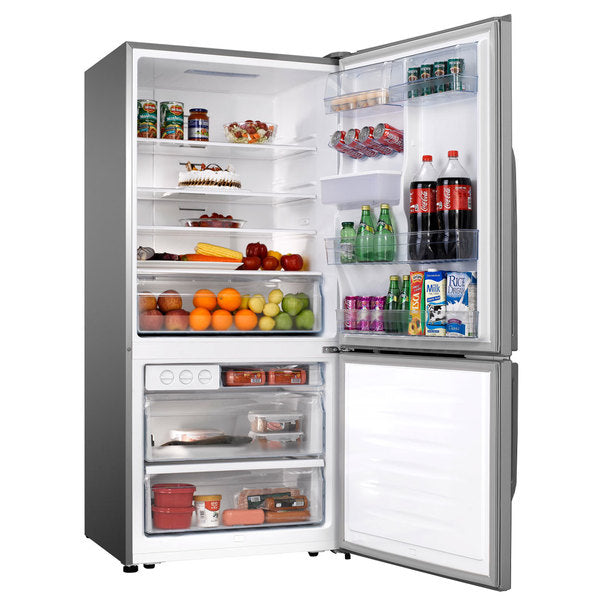 Hisense 458L Inox Bottom Freezer with Water dispenser