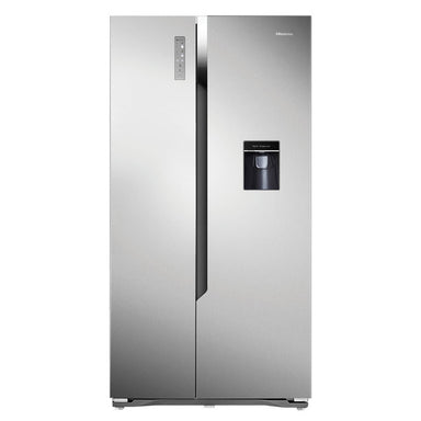 Hisense 512L Brushed Stainless steel, SBS refrigerator with water dispenser