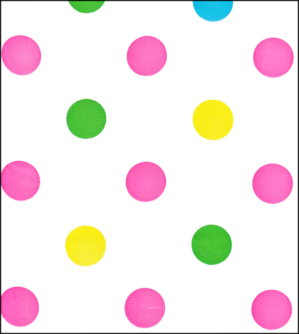 Big Dot Pink Oilcloth Fabric Roll