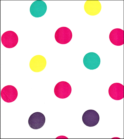 Big Dot Purple Oilcloth Roll