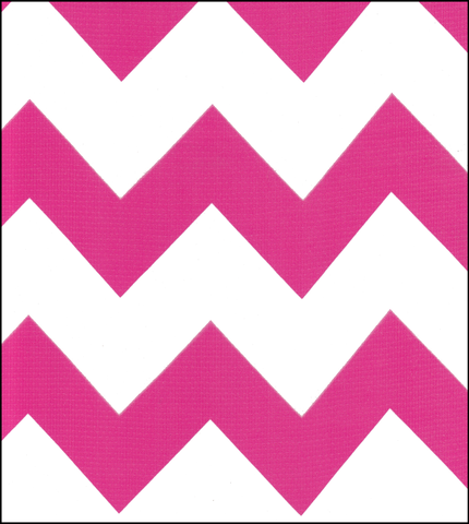 Chevron Oilcloth Fabric in Pink