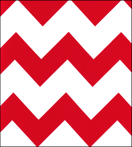 Red Chevron Oilcloth Fabric