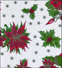 Christmas Stars on White Oilcloth