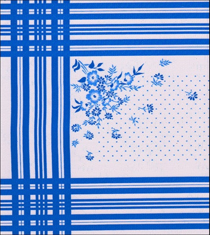 Corn Flower Blue Oilcloth