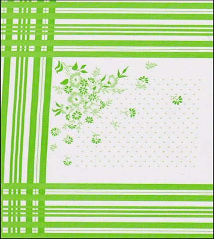 Corn Flower Lime Oilcloth