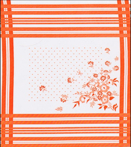 Corn Flower Orange Oilcloth