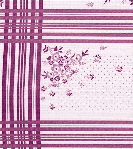 Corn Flower Purple Oilcloth