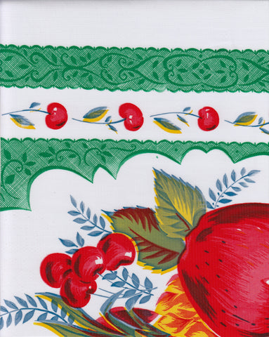 Country Apple Green Oilcloth