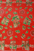 Christmas Bells and Bows Red Oilcloth