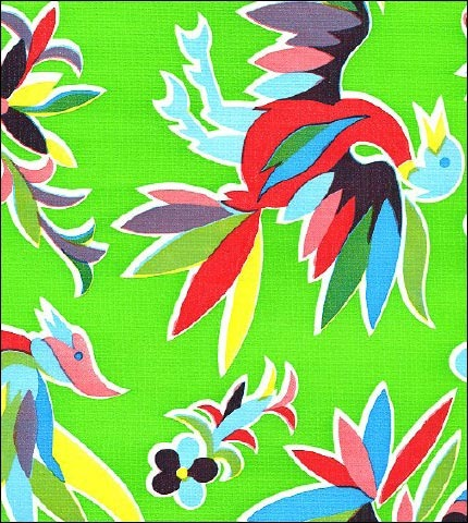 Animal Wonderland Lime Oilcloth