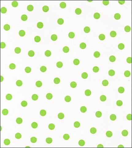 Dot Lime Oilcloth fabric