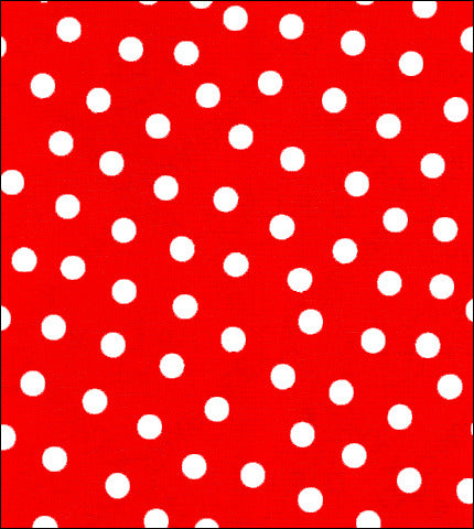Solid Red with White Dot Oilcloth