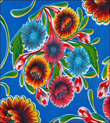 Bloom Royal Blue Oilcloth