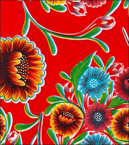 Bloom Red Oilcloth