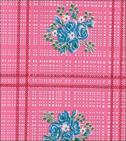 Bouquet Pink Oilcloth Roll