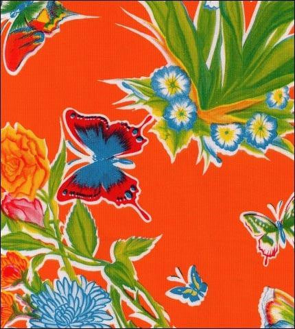 Edgars Butterfly Orange Oilcloth Roll