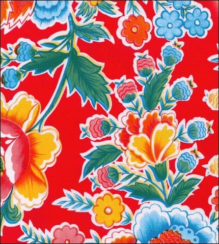 Fantasia Red Oilcloth Fabric