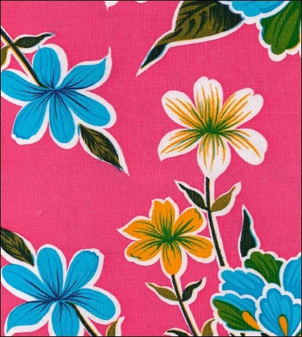 Hawaii Pink Oilcloth