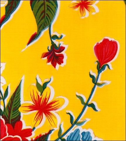 Hawaii Yellow Oilcloth Fabric Roll