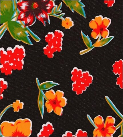 Istanbul Black Oilcloth Fabric