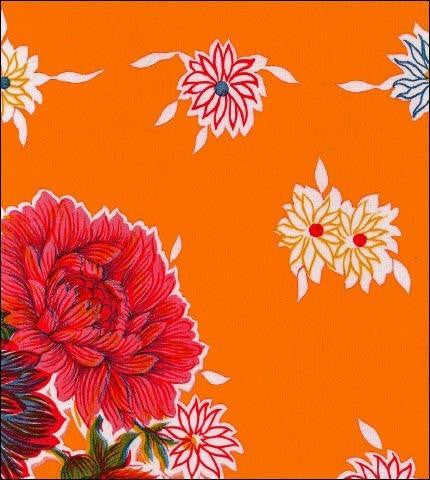 Mum Orange Oilcloth Roll