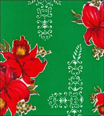 Orchid Green Oilcloth Roll