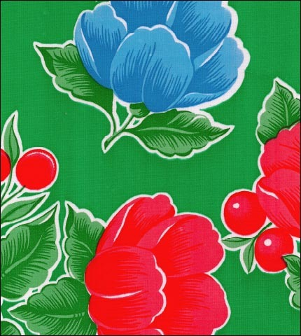 Poppy Green Oilcloth