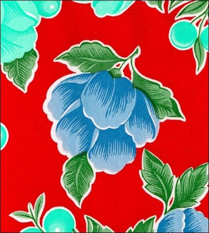 Poppy Red Oilcloth