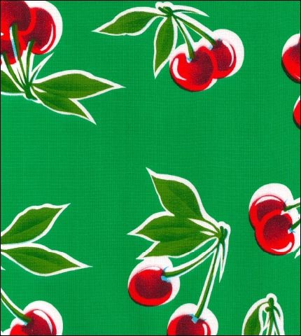 Cherry Green Oilcloth