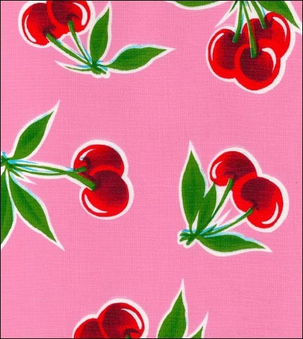 Cherry Pink Oilcloth