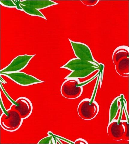 Cherry Red Oilcloth