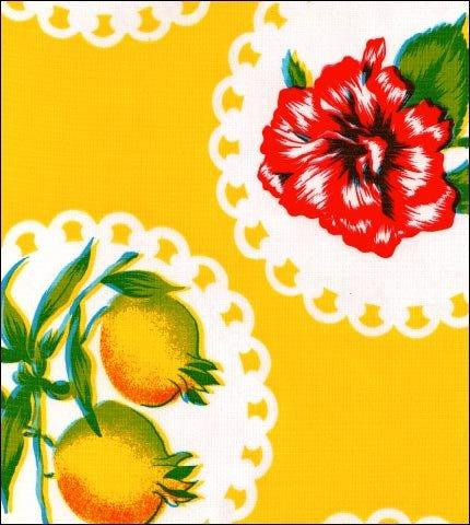 Doily 2 Yellow Oilcloth Roll
