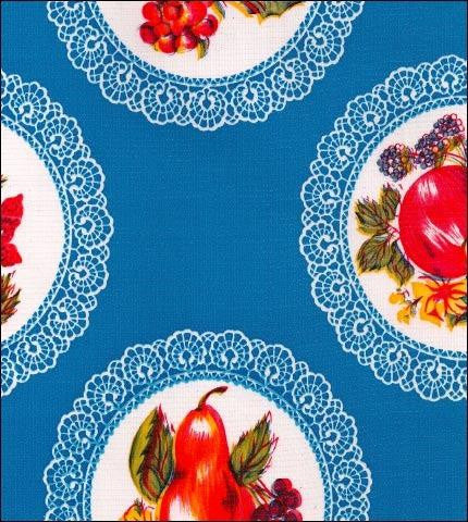 Doily Blue Oilcloth Roll