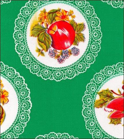 Doily Green Oilcloth Roll