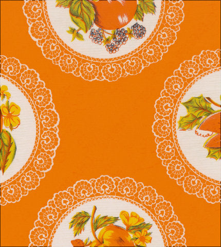 Doily Orange Oilcloth